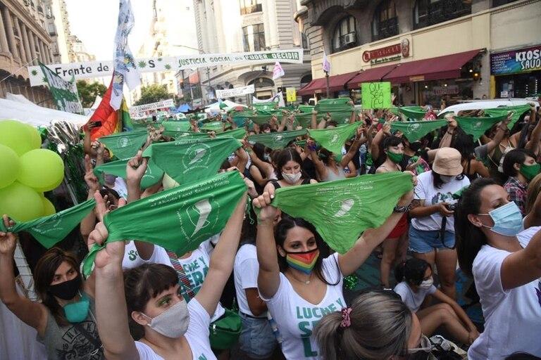 El pañuelo verde, un símbolo de quienes se encuentran a favor de la legalización del aborto