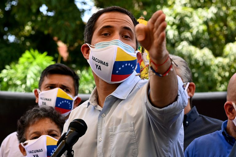 Juan Guaidó en Caracas; la situación política cambió y asoma la posibilidad de un diálogo con Maduro