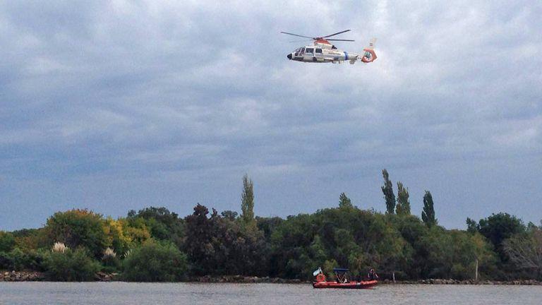 Helicópteros participan del operativo