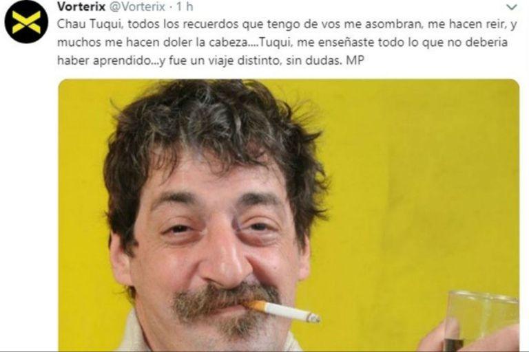 El tuit de Mario Pergolini tras la muerte de Tuqui