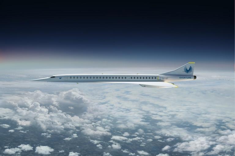 El avión comercial Overture saldrá al mercado comercial en 2026
