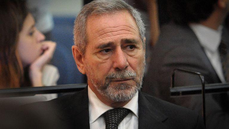 Ricardo Jaime durante las audiencias de uno de los juicios