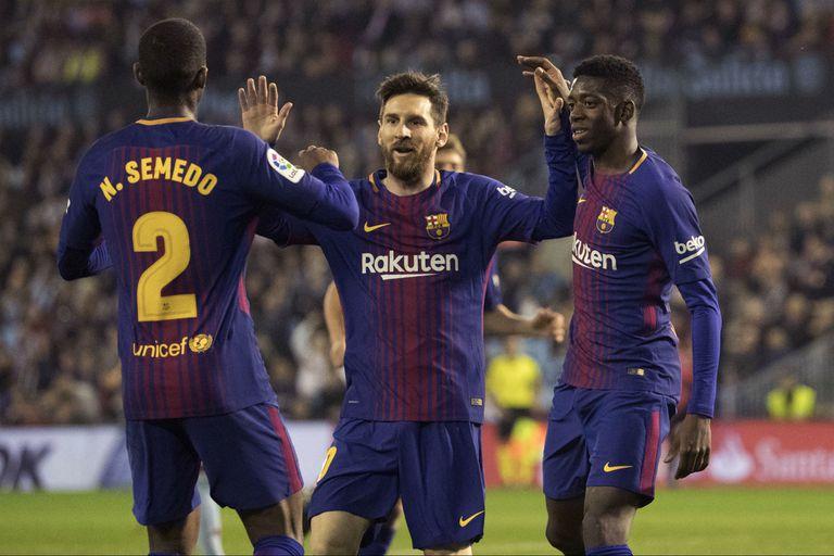Messi fue suplente y a Barcelona le empataron con un gol con la mano