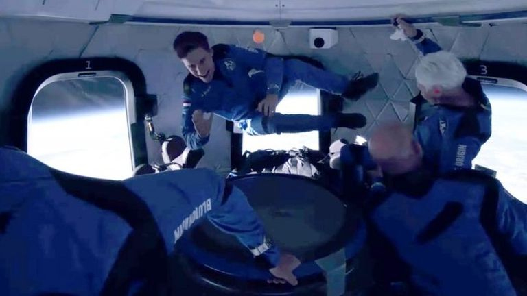 La tripulación de New Shepard experimentó unos minutos de ingravidez