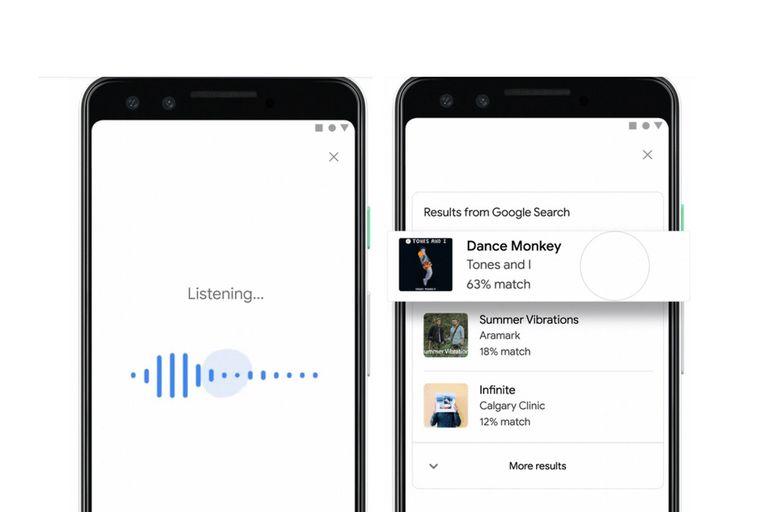 La nueva función de Google, disponible en el buscador y en Assistant, permite identificar una canción con solo tararear una parte de la melodia