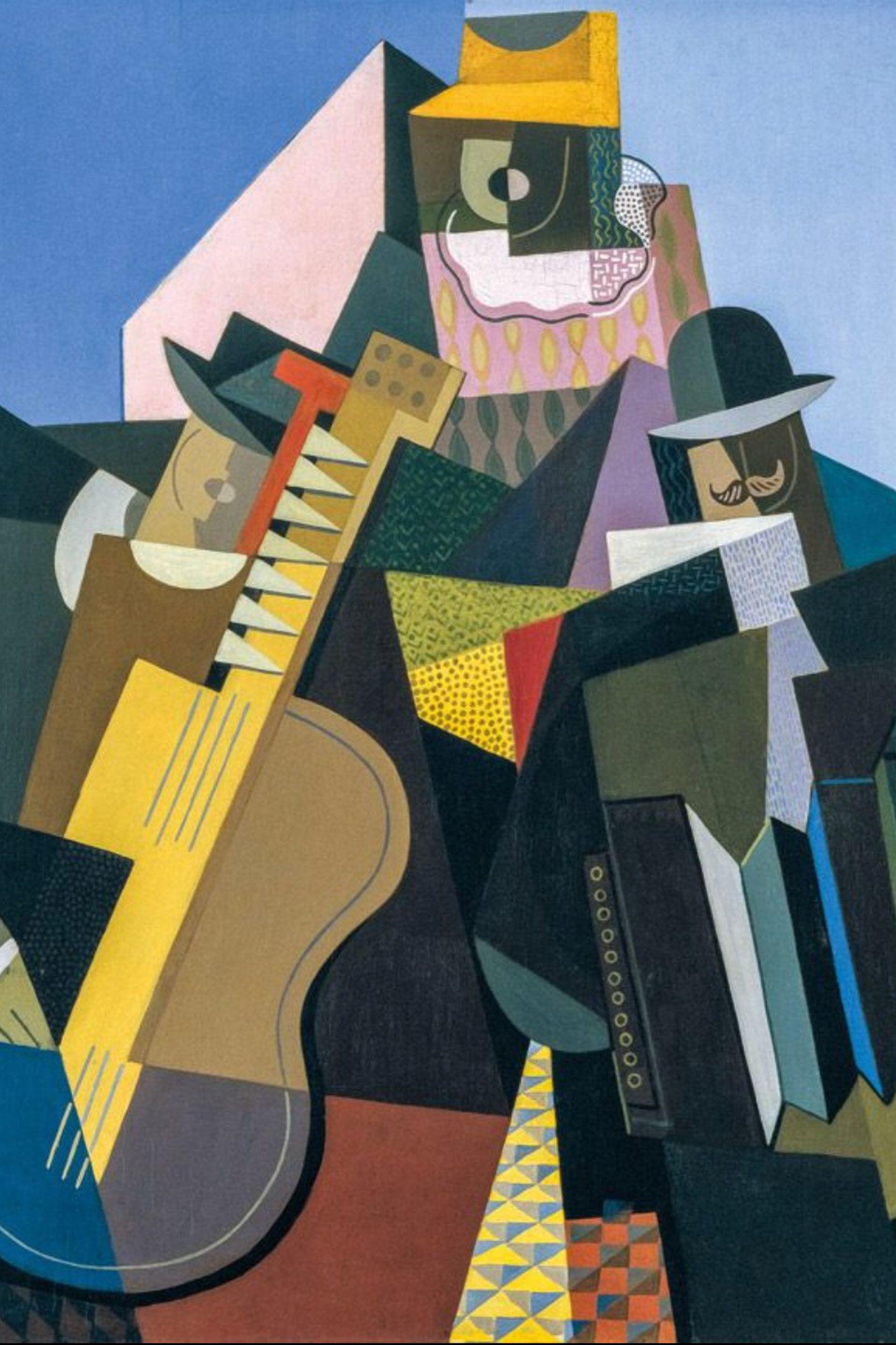 Detalle de La canción del pueblo (1927), donada por Eduardo Costantini al Malba