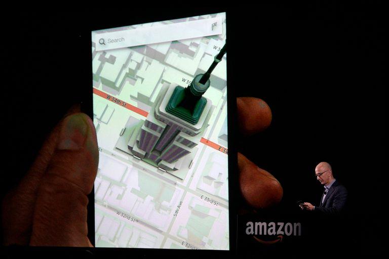 El efecto de perspectiva dinámica se aplica en los mapas (provistos por Nokia) y en otras aplicaciones
