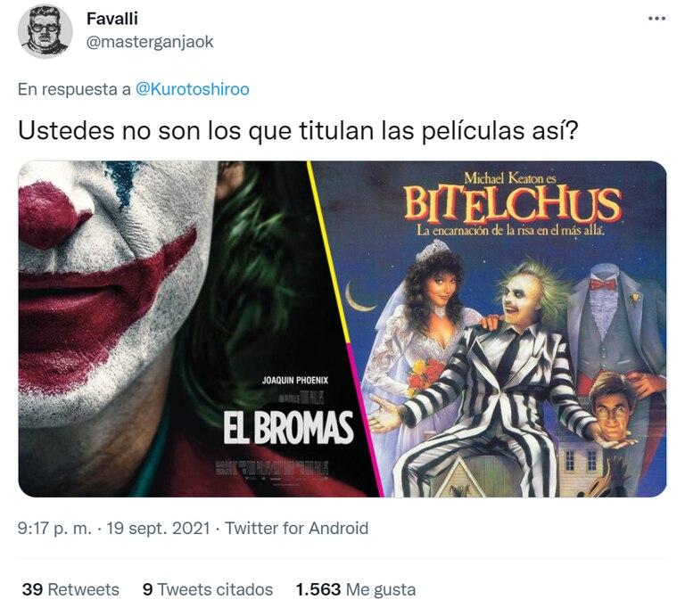 Un usuario hizo hincapié en los títulos que reciben las películas de Hollywood en España