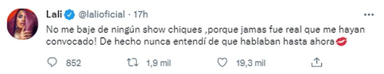 El primer mensaje de Lali Espósito tras la polémica por el show