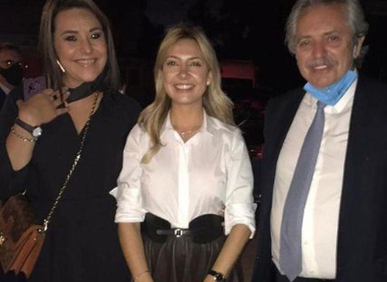 Claudia Silvero, junto a la primera dama Fabiola Yañez y el presidente Alberto Fernández