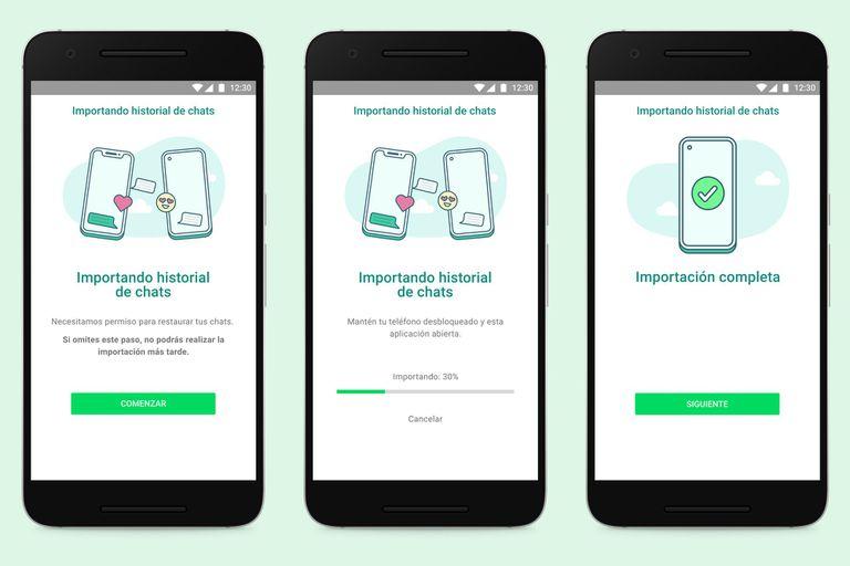 WhatsApp permitirá transferir el historial de mensajes, fotos, videos y notas de audio entre Android y el iPhone; hasta ahora estaba limitado a transferencias entre dispositivos con el mismo sistema operativo