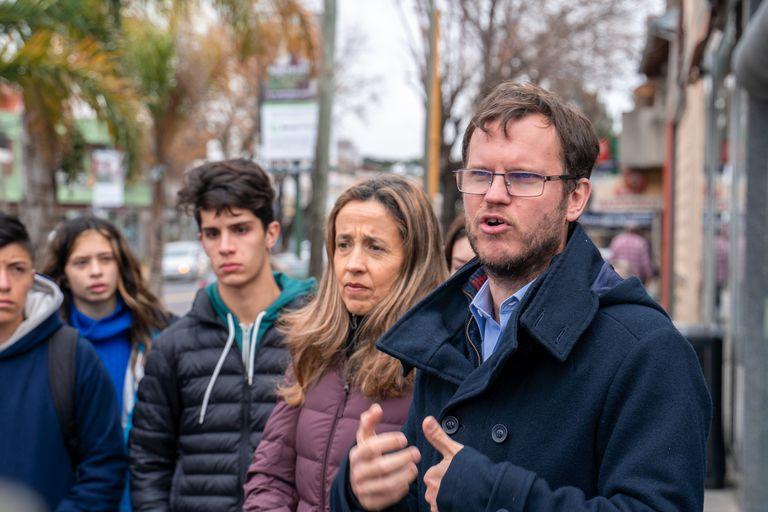 Feldtmann de Maurette y Marcos Hilding Ohlsson, en la campaña 2019 de ConVocación por San Isidro