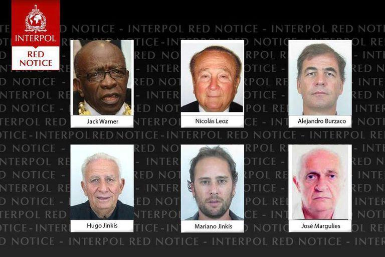 Interpol emitió alertas rojas contra dos ex dirigentes de FIFA y cuatro empresar