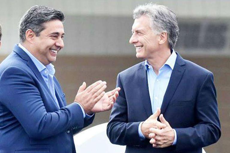 Daniel Angelici y Mauricio Macri