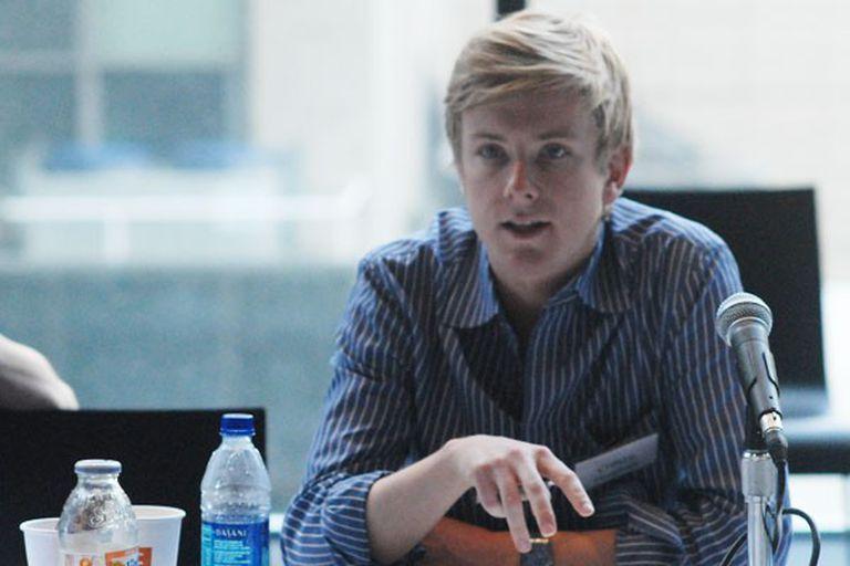 Chris Hughes, cofundador de Facebook, durante una charla organizada por Union Square Ventures