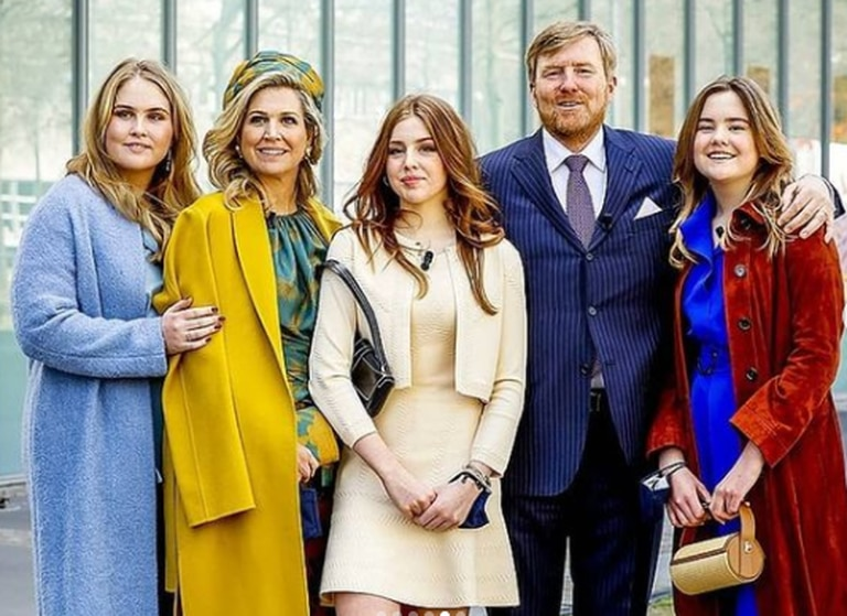 La reina Máxima junto a su familia: Guillermo, Amalia, Alexia y Ariane