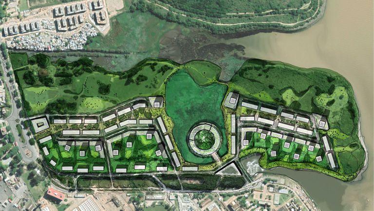 El plano del desarrollo urbanístico en la ex-Ciudad Deportiva de Boca