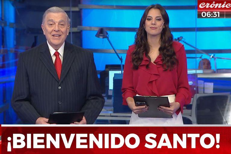 Santo Biasatti volvió a la televisión de la mano de Crónica