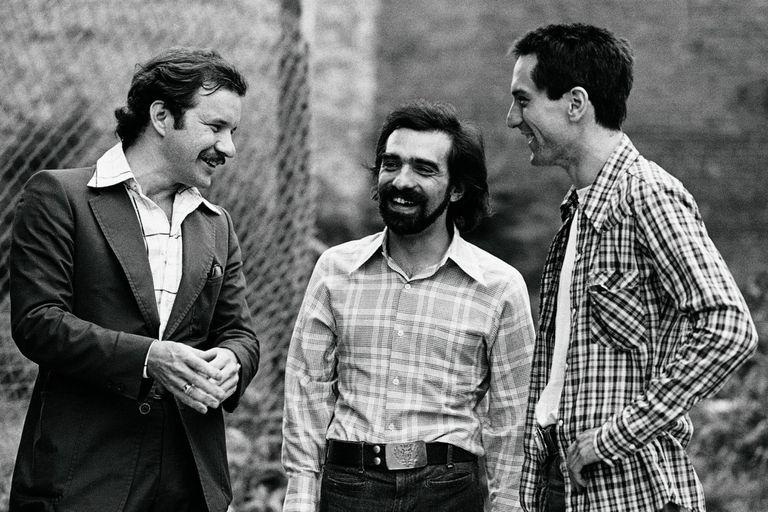 Paul Schrader, Martin Scorsese y Robert De Niro, las tres figuras claves del éxito de Taxi Driver.