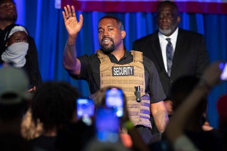 Kanye West, en julio pasado cuándo se lanzó como candidato a presidente de los Estados Unidos