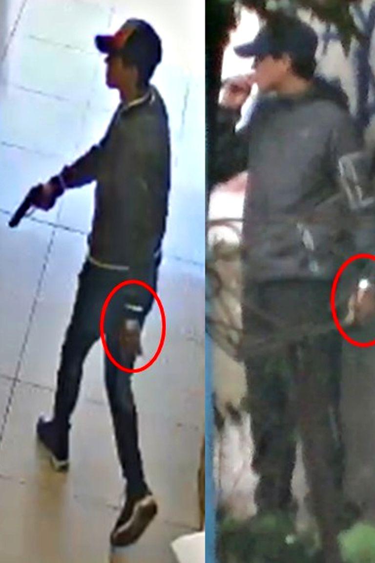 El tirador, conocido como El Rengo, en uno de los ataques