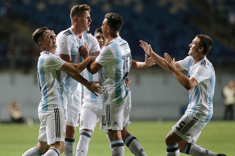 El mejor momento del Sub 20: Argentina goleó en la noche inolvidable de Gaich