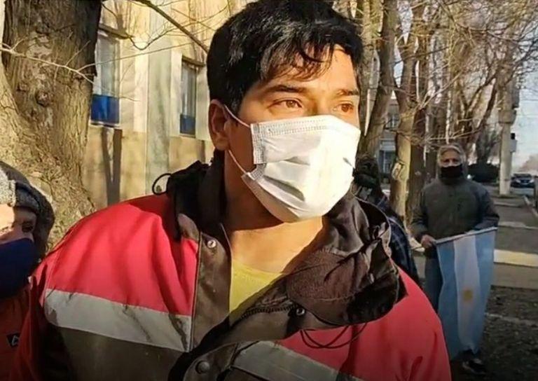 Enfermero Sebastián Barrientos: denunció golpes de la policía durante un control vehicular.