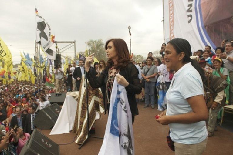 Milagro Sala se diferenció del Gobierno y apuntó contra Alberto y Cristina