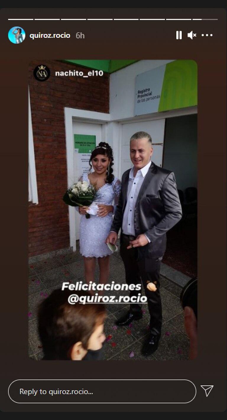 Quiroz y Etchepare, recién casados