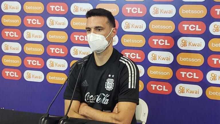 Conferencia de prensa de Lionel Scaloni, director técnico de la Selección Argentina de fútbol.