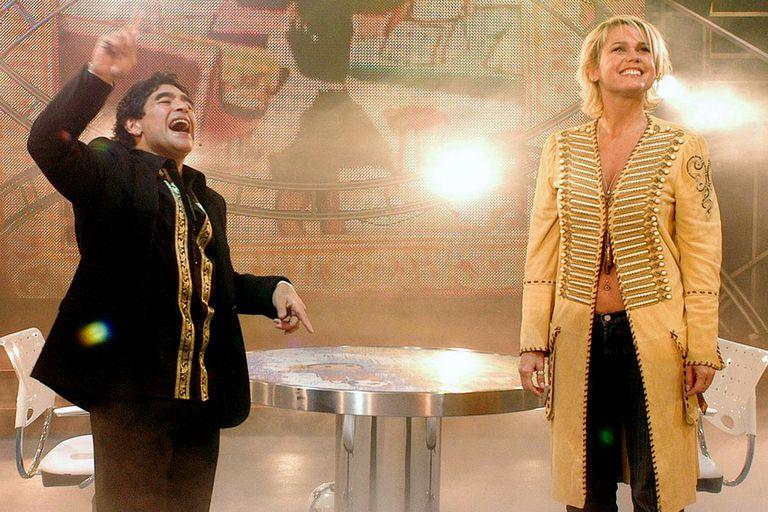 Diego Maradona y Xuxa, una de las visitas estelares de La Noche del 10
