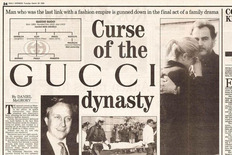 Una publicación del diario americano Daily, la tapa retrataba el asesinato ocurrido en la familia de la moda italiana que captó la atención del público como si se tratase de una novela