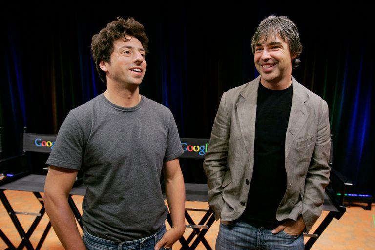 Sergei Bin y Larry Page, los fundadores de Google