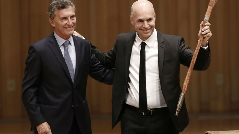 Macri y Larreta, el 9 de diciembre pasado, cuando fue el traspaso de gobierno en la Ciudad