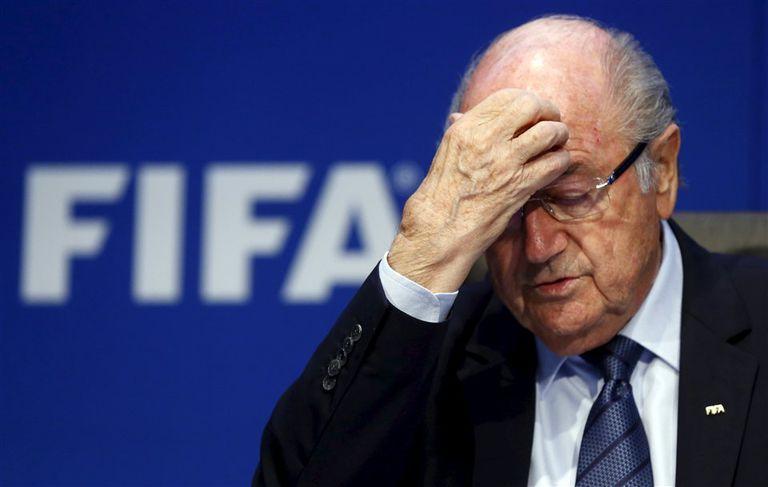 Blatter, en sus últimos momentos como presidente de la FIFA. Ahora, arremetió contra su sucesor, Gianni Infantino.