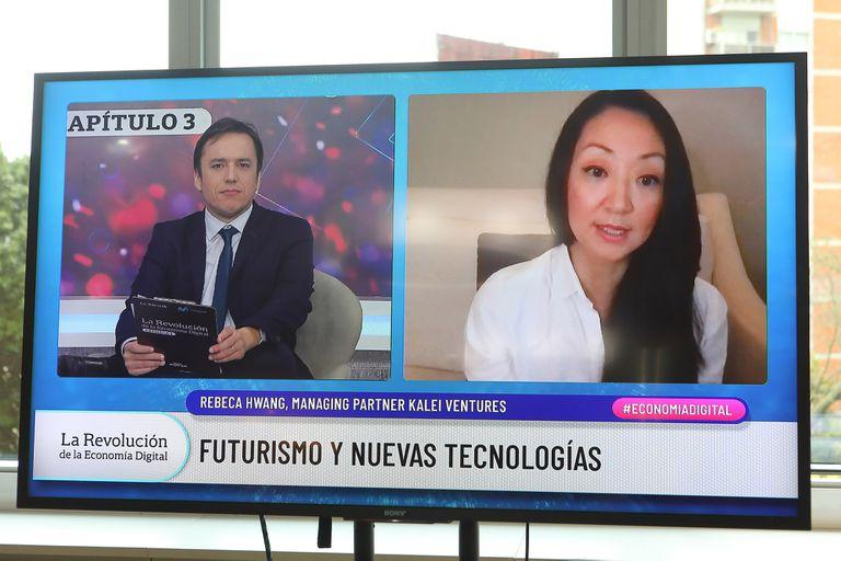 Jose Del Rio (LA NACION) y Rebecca Hwang (Kalei Ventures)