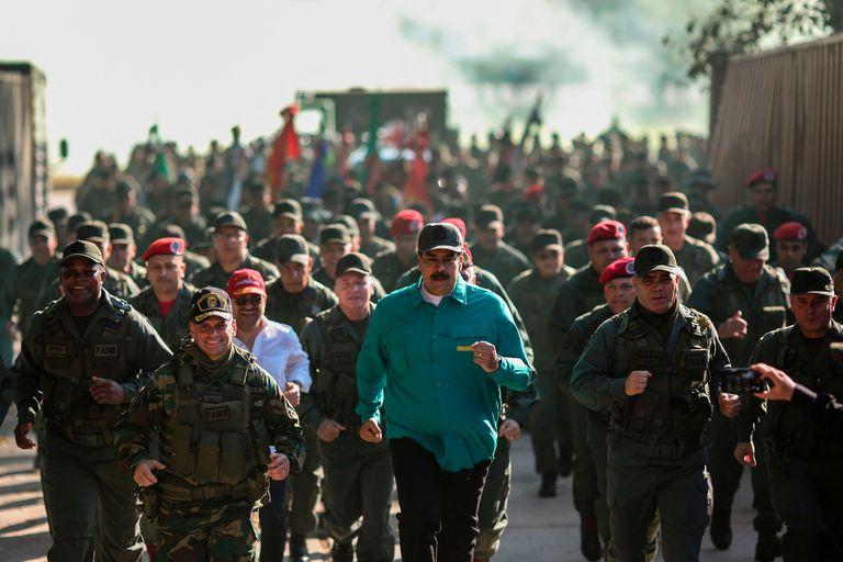 El seguidor de Hugo Chávez habló en un acto de maniobras militares de la Aviación Militar Bolivariana en el estado Aragua