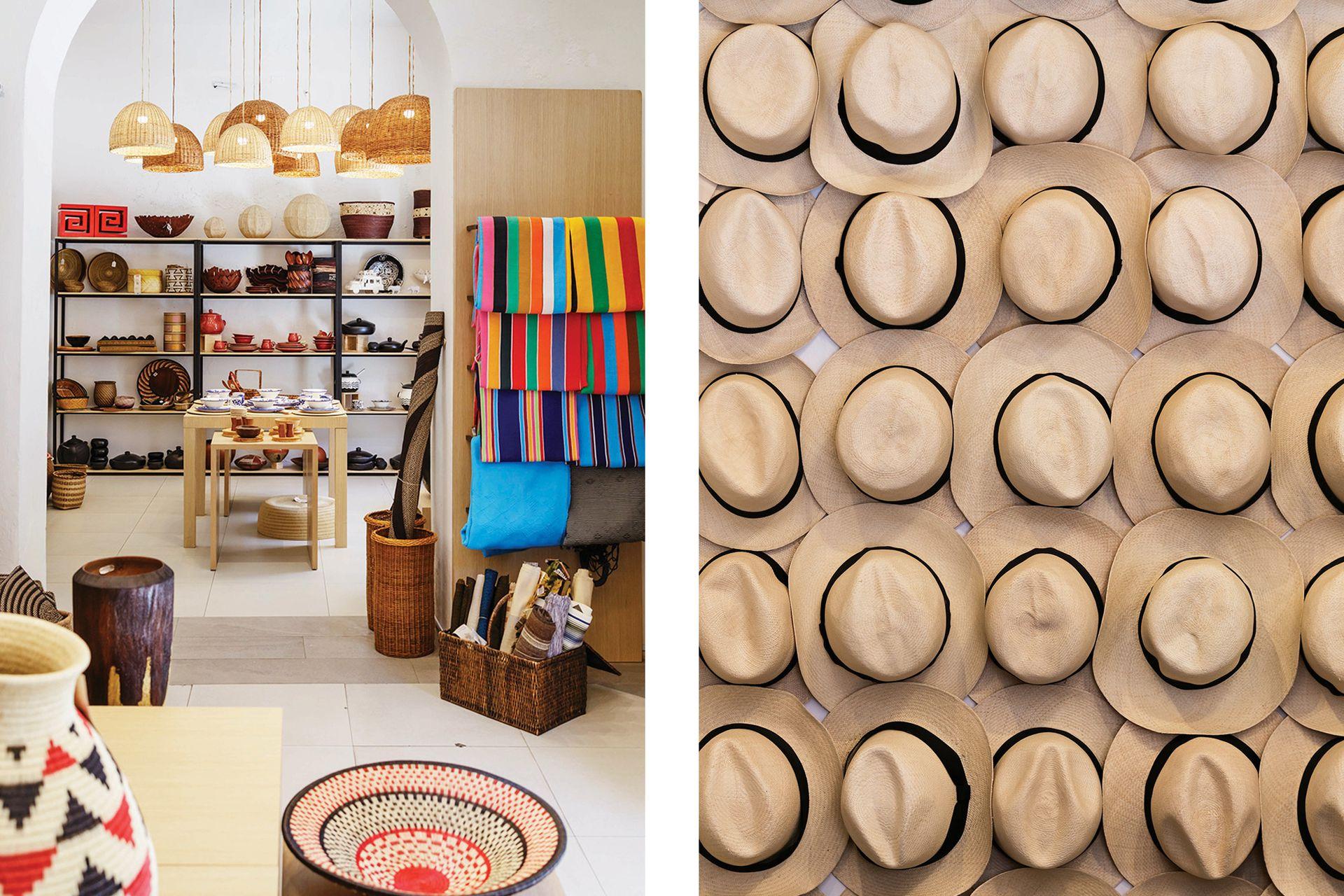 Gran clásico, los sombreros aguadeños: entre más fino y flexible el tejido de palma de iraca, más fino el sombrero.