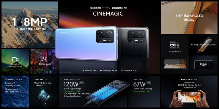 Las prestaciones de los Xiaomi 11T  y 11T Pro