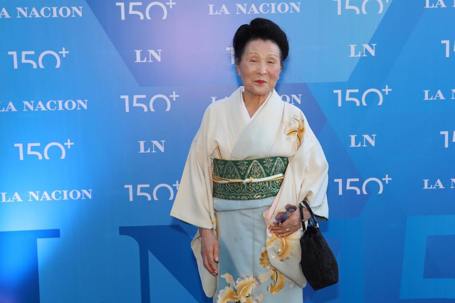 Hiroko Mukoyama, referente de Japón en la Argentina, en la celebración por los 150 años de LA NACION