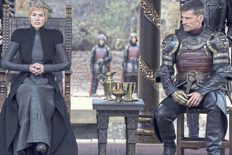 Lena Headey y Nikolaj Coster-Waldau en Game of Thrones