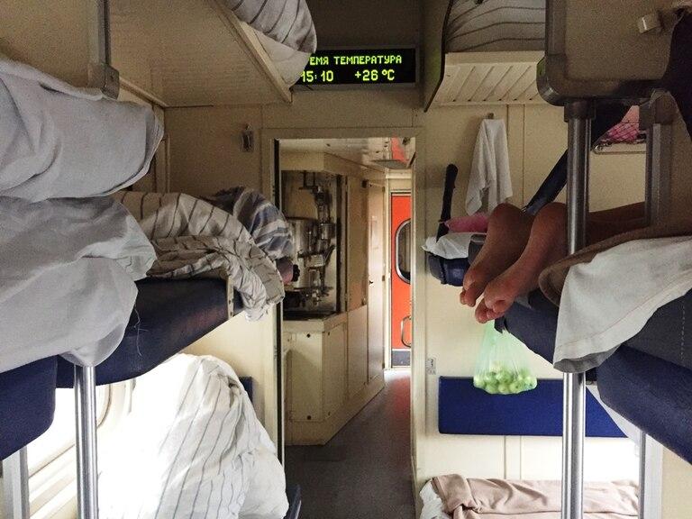 Vagón de tercera clase del Tren Transiberiano