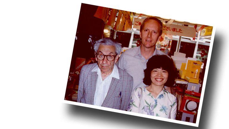 Erdős con Fan Chung y Ronald Graham en Japón de 1986