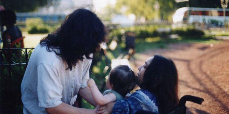 Silvina, Mercedes y su hija, unos años atrás