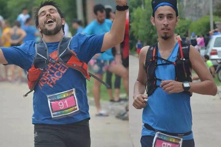 Pedro y Rodrigo, no se sabe cual es cual, pero ambos terminaron los 30k de Uniendo Pueblos
