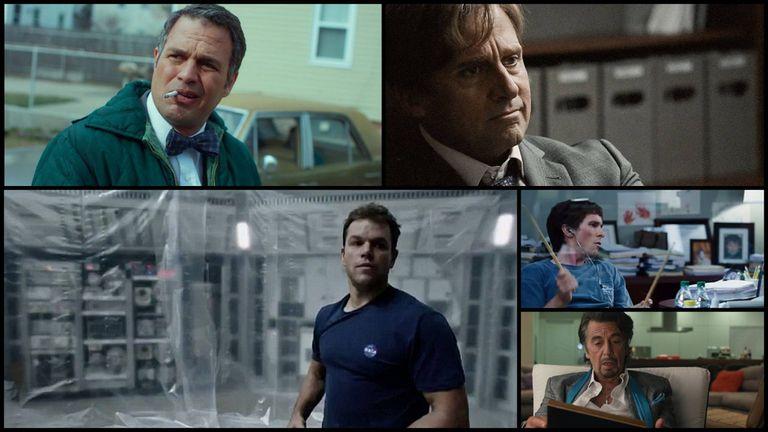 Los mejores actores cómicos nominados son: Mark Ruffalo, Steve Carell, Matt Damon, Chrstian Bale y Al Pacino
