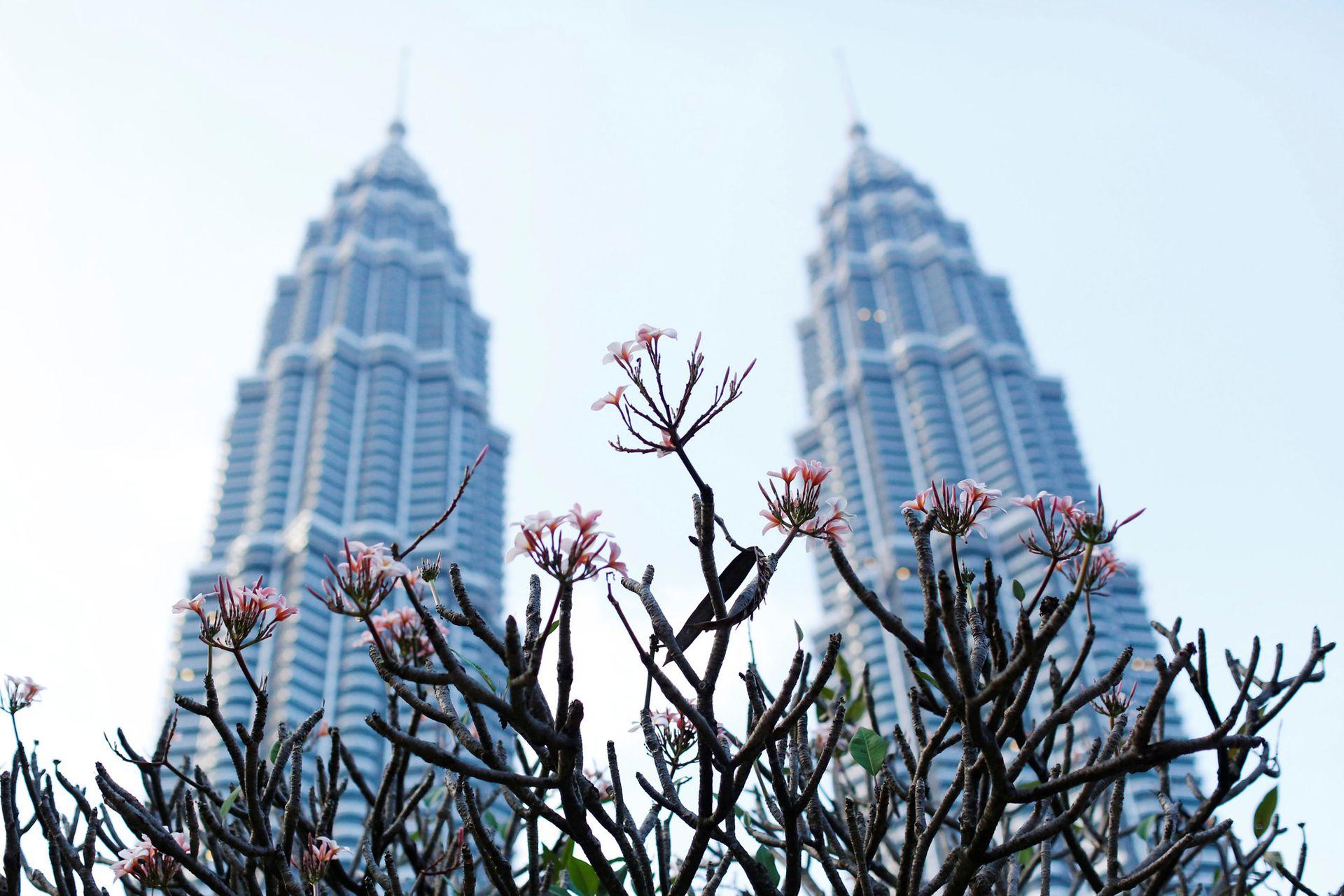 Una vista de las torres Petronas, en Kuala Lumpur