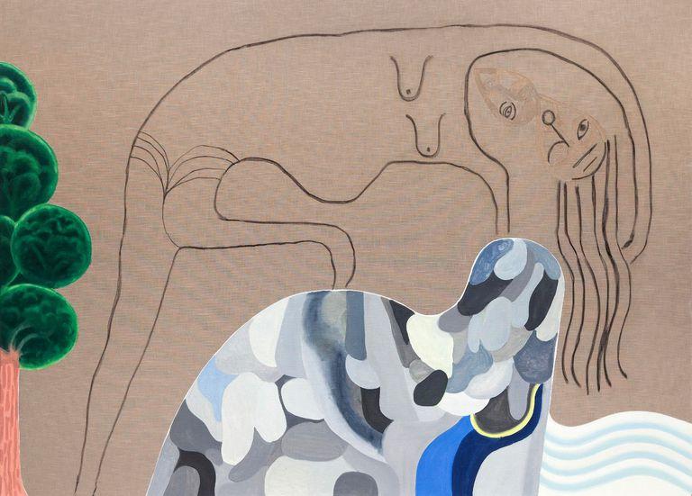 """En sus pinturas, Juan Tessi (1972) """"alude a sensaciones corporales y representa tribus de cuerpos deseantes"""""""
