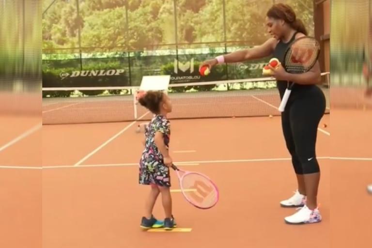 Serena Williams compartió una tierna foto con su hija Olympia de tres años