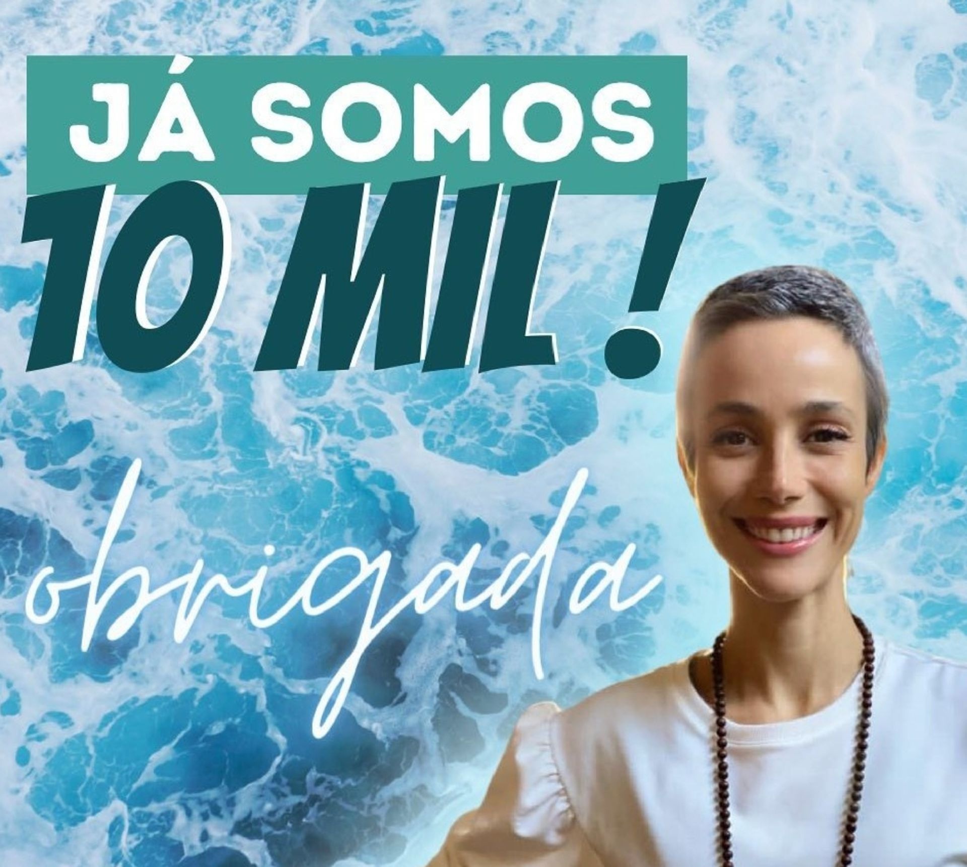 La actriz brasileña subió un flyer cuando @maearrependida llegó a las 10.000 seguidoras.